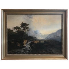 Antique 19th Century European Oil Painting on Canvas Signed M. L. Tunner, 1872