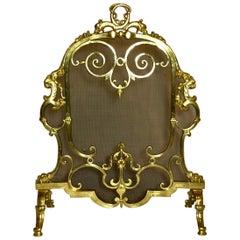 Antique 19th Century Fine Quality Bronze Firescreen