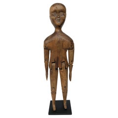 Antique 19th Century Folk Art Carved Articulated Wooden Figure