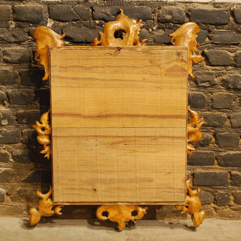 Antique 19th Century French Baroque Gold Leaf Gilt Rectangular Mirror For Sale 6