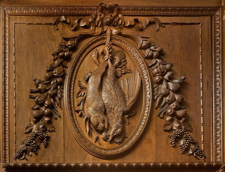 Antique 19th Century French Chateau Oak Paneled Salon Room