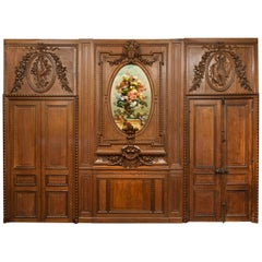 "Antique 19th Century French Chateau Oak Paneled Salon Room ""Boiserie"" circa 1865"