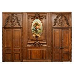"Antique 19th Century French Chateau Oak Paneled Salon Room ""Boiserie"" circa 1865"