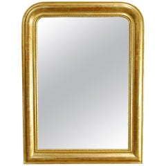 Antique 19th Century French Gold Leaf Gilt Louis Philippe Mirror