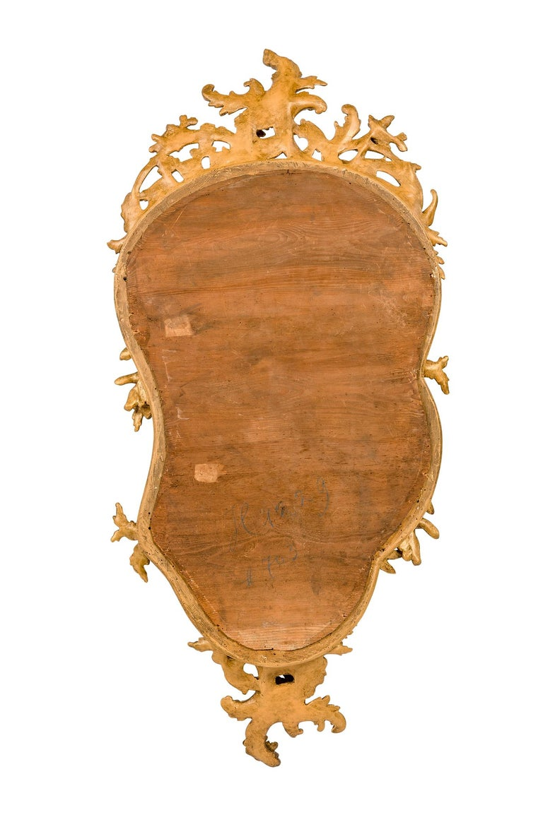 Antique 19th Century French Gold Rococo Wall Mirror with Cherubs or Putti For Sale 4