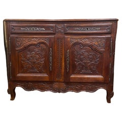 Antique 19th Century French Provincial Fruitwood Buffet