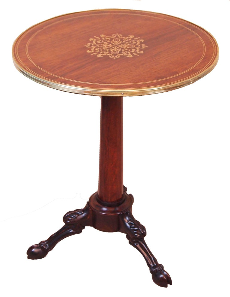 Regency 19th Century French Rosewood Circular Lamp Table For Sale