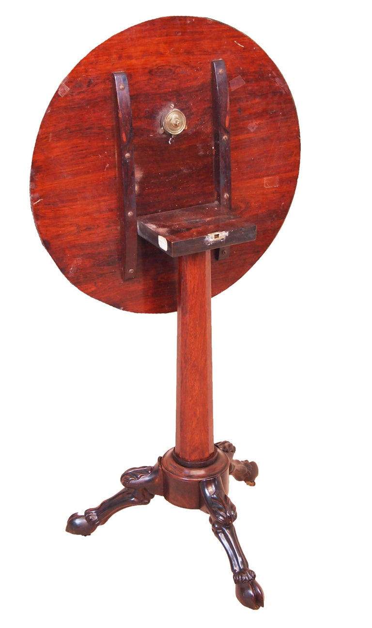 19th Century French Rosewood Circular Lamp Table For Sale 1