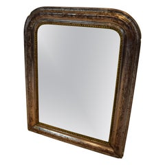 Antique 19th Century French Silver Gilt Louis Philippe Mirror