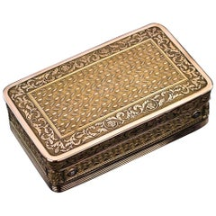 Antique 19th Century French Silver Gilt Music Snuff Box, circa 1810