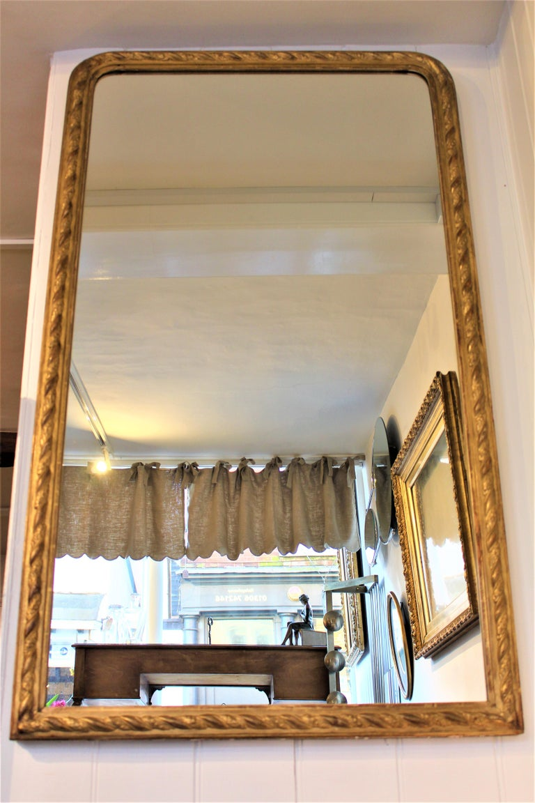 Antique 19th Century French Tall Torsade Moulding Frame