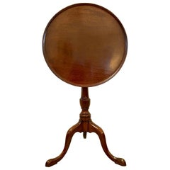 Antique 19th Century George III Mahogany Dish Top Tripod Table