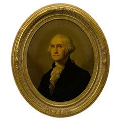 Antique 19th Century George Washington Middleton Chromolithographic Portrait