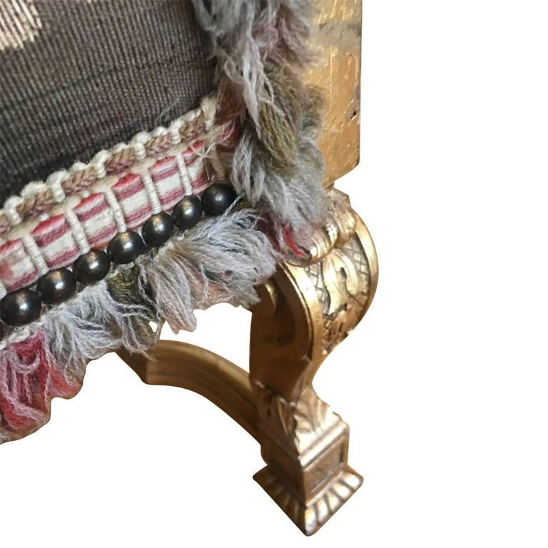 French Antique 19th Century Giltwood and Handmade Tapestry Settee For Sale