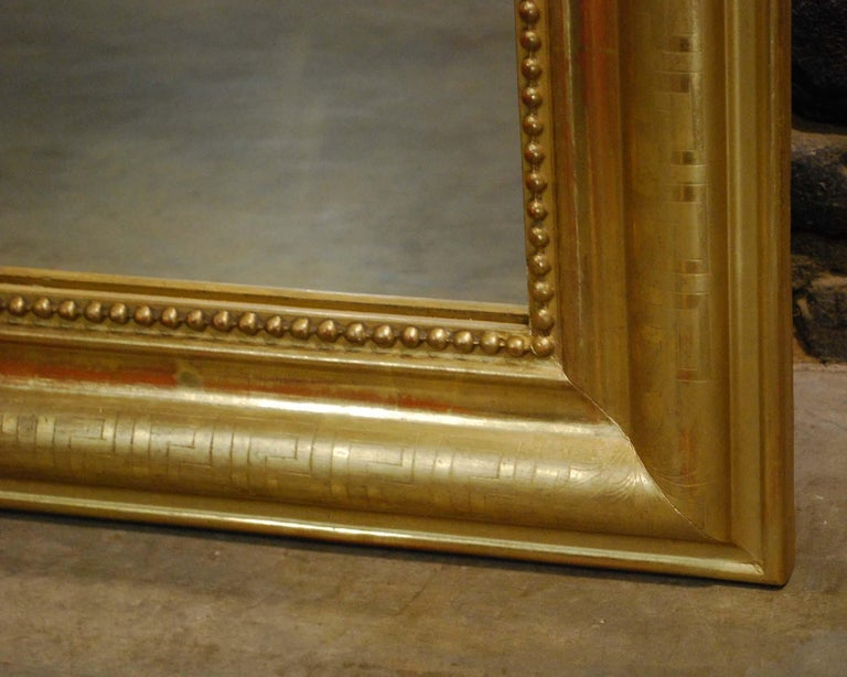 Antique 19th Century Gold Leaf Gilt French Louis Philippe Mirror For Sale 2