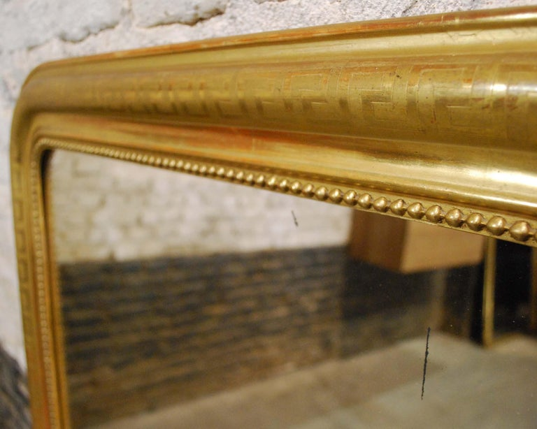 Antique 19th Century Gold Leaf Gilt French Louis Philippe Mirror For Sale 3
