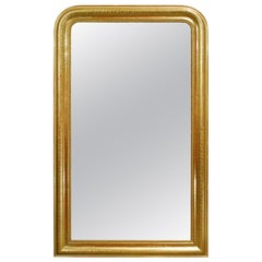 Antique 19th Century Gold Leaf Gilt French Louis Philippe Mirror