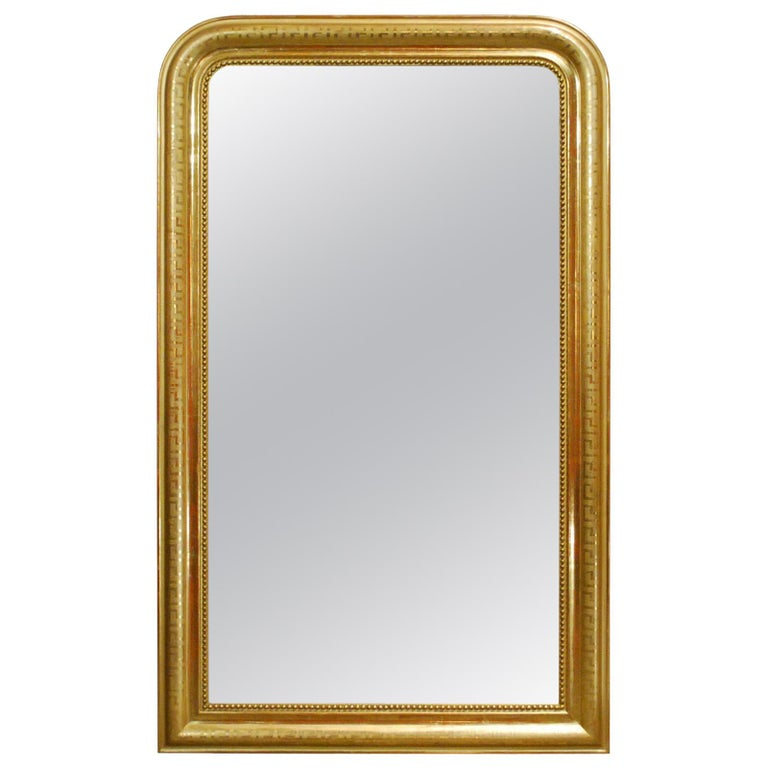 Antique 19th Century Gold Leaf Gilt French Louis Philippe Mirror For Sale