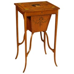 Antique 19th Century Inlaid English Sewing Table
