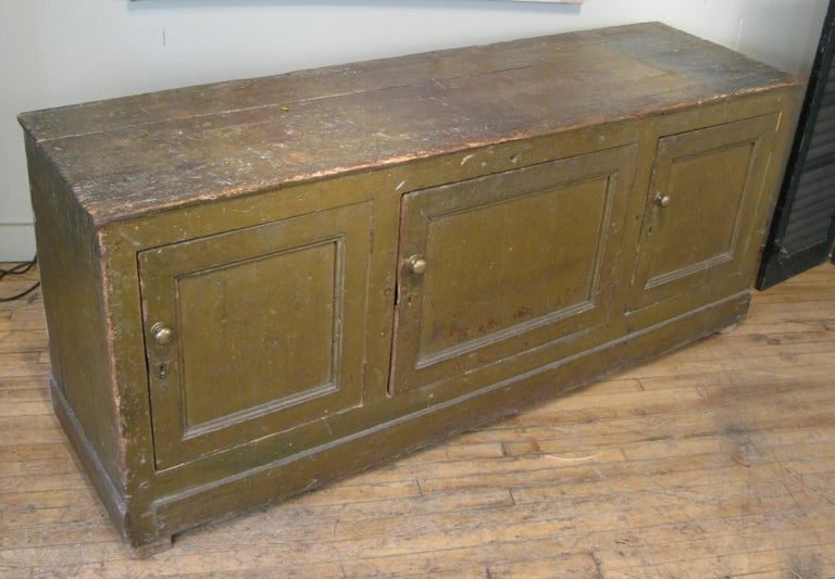 Antique 19th Century Italian Mercantile Cabinet In Good Condition For Sale In Hudson, NY