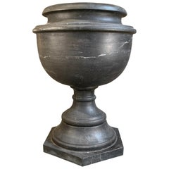 Antique 19th Century Italian Urn in Carved Black Marble