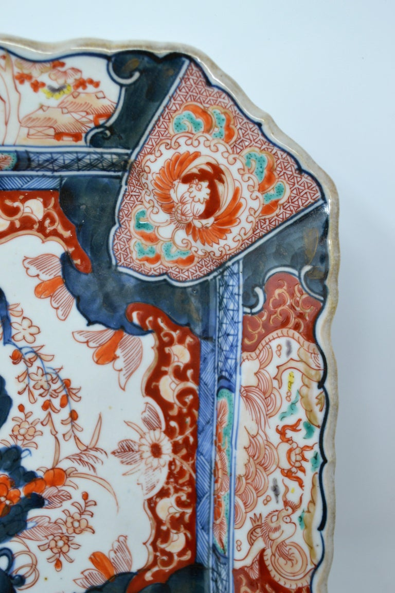 Antique 19th Century Japanese Imari Charger In Good Condition For Sale In New Orleans, LA