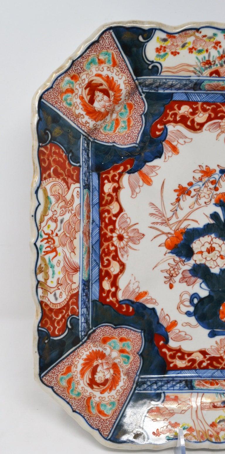 Porcelain Antique 19th Century Japanese Imari Charger For Sale