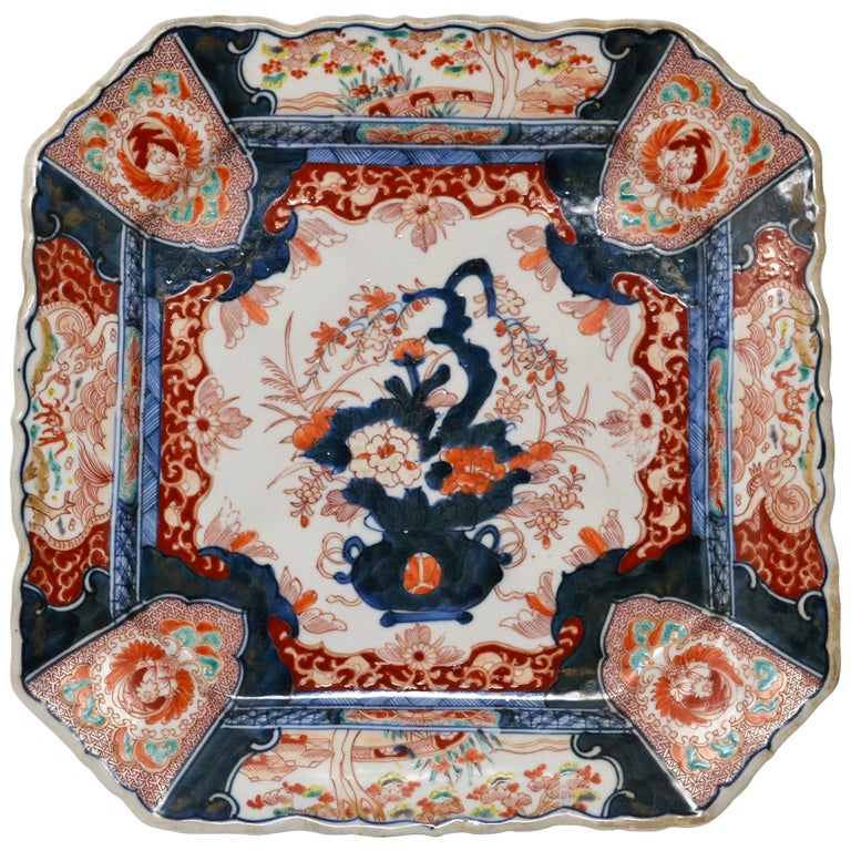 Antique 19th Century Japanese Imari Charger For Sale