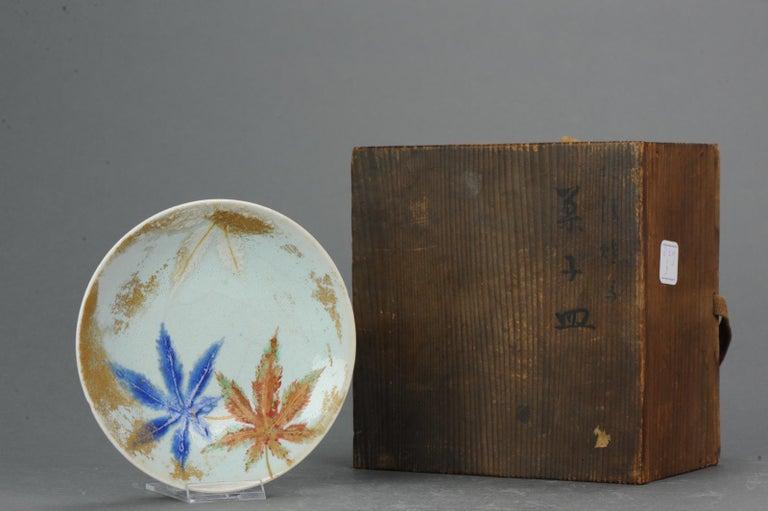 Meiji Antique 19th Century Japanese Porcelain Eiraku Ninsei Kaiseki Plates For Sale