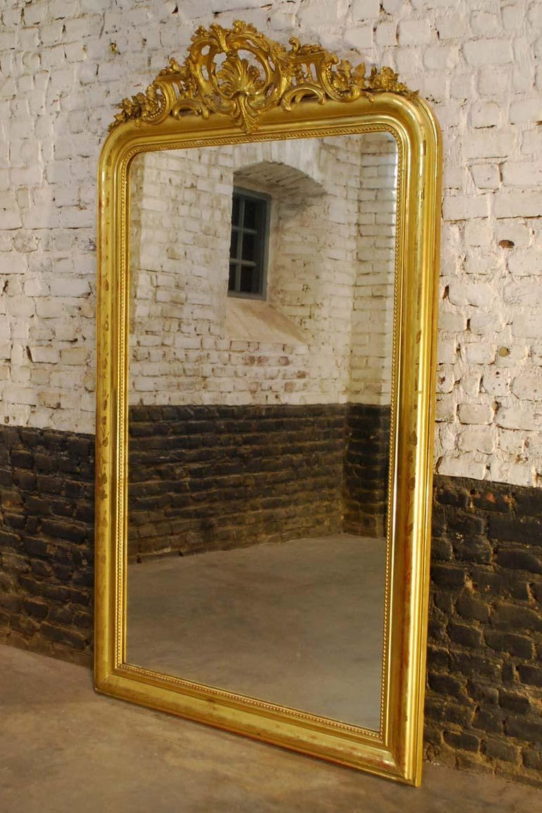 Antique 19th Century Large Gold Gilded Baroque Louis