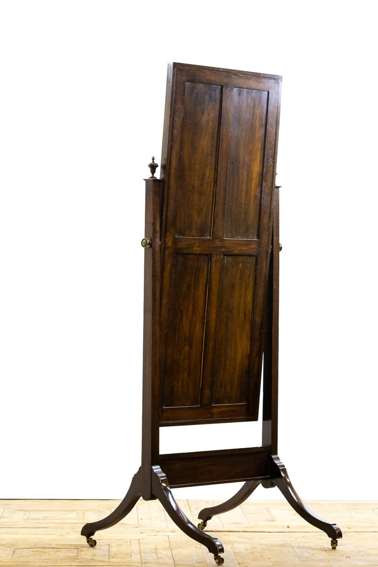 Antique 19th Century Mahogany Cheval Mirror In Good Condition For Sale In Pickering, North Yorkshire