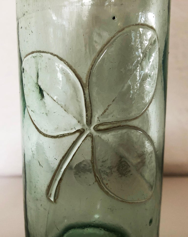 Blown Glass Antique 19th Century Mexican Codd Neck Glass Soda Bottles, Set of 6 For Sale