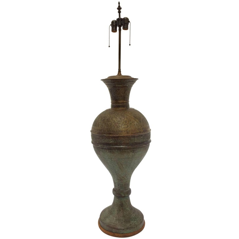 detailed pictures a096e 39c65 Antique 19th Century Middle Eastern Persian Oriental Brass Floor Lamp