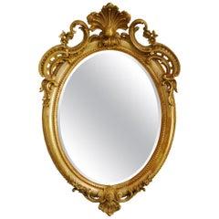 Antique 19th Century Napoleon III French Oval Mirror