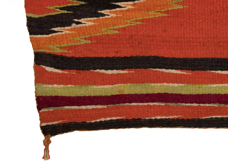 American Antique 19th Century Navajo Wearing Blanket with Cross Motif, circa 1880 For Sale