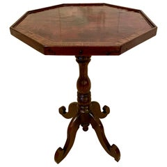 Antique 19th Century New Zealand Victorian Lamp Table by W H Jewell Christchurch