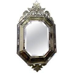 Antique 19th Century Octagonal Venetian Mirror