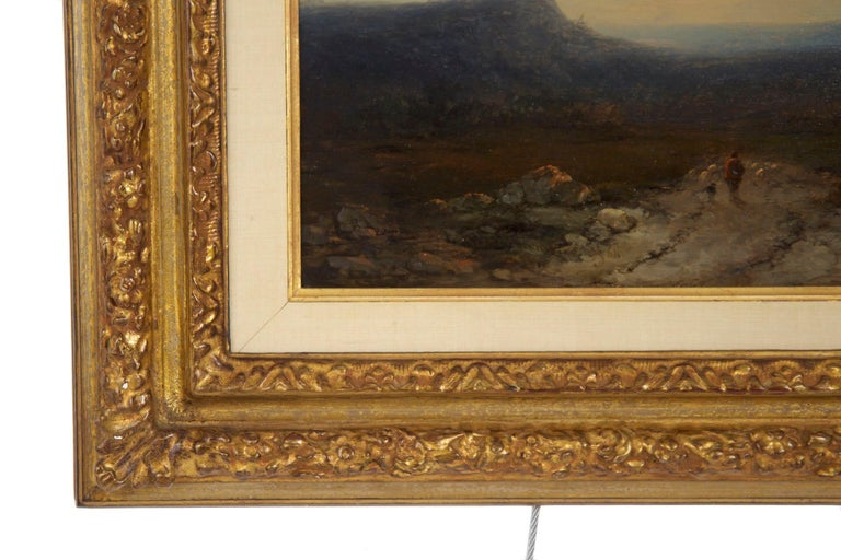 Antique 19th Century Oil Landscape Painting of Shepherd by J. Hoppenbrouwers For Sale 8