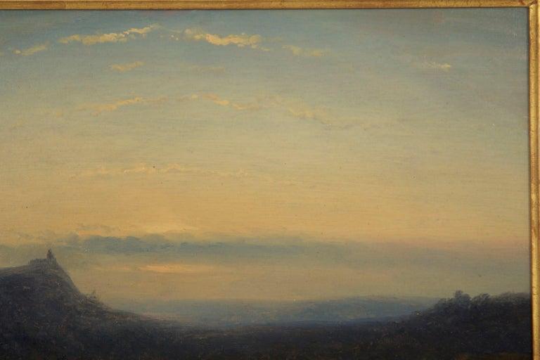 Dutch Antique 19th Century Oil Landscape Painting of Shepherd by J. Hoppenbrouwers For Sale