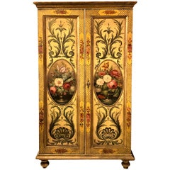Antique 19th Century Painted Cabinet