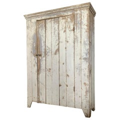 Antique 19th Century Painted Country Cupboard