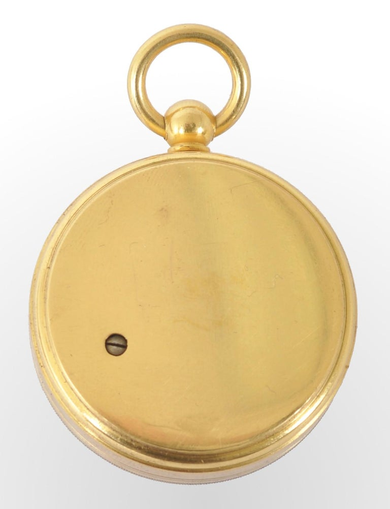 Late 19th Century Antique 19th Century Pocket Barometer by Negretti & Zambra of London, circa 1880 For Sale