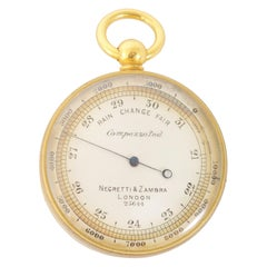 Antique 19th Century Pocket Barometer by Negretti & Zambra of London, circa 1880