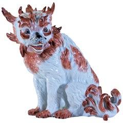 Antique 19th Century Porcelain Model of a Bolognese Dog, After J. Kirchner