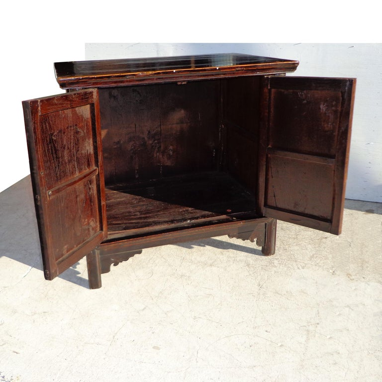 Asian Antique 19th Century Qing Chinese Cabinet For Sale