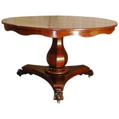 Antique 19th Century Round Mahogany Dining Table