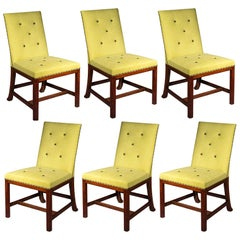 Antique 19th Century Set of Six Large Chippendale Dining Chairs