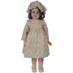Antique 19th Century SFBJ 60 Paris 2 Bisque Sleepy Eye Jointed Baby Doll