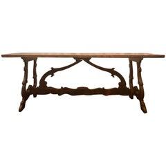 Antique 19th Century Spanish Trestle Table