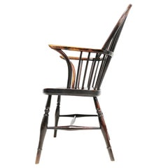 Antique 19th Century Thames Valley Wheel Back Windsor Armchair